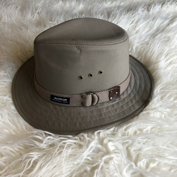 517f64a1b Panama Jack Hat Men's Cotton Canvas Safari Fedora